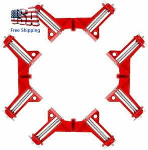 90 Degree Right Angle Clip Corner Clamp Hand Tool Woodworking Picture Frame 4Pcs $21.99