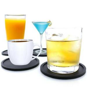 Premium Silicone Round Hot Drink Coasters Place Mat Coffee Tea Cup Holder Pads