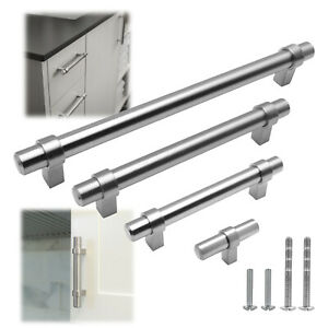 Stainless Steel Brushed Nickel Modern Kitchen Pull Cabinet Handle Door Hardware