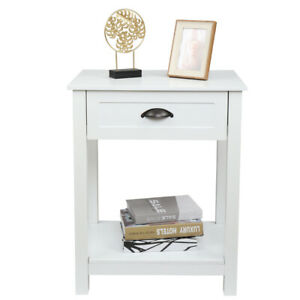 Modern Wood Nightstand Side Table Bedroom End Table w Storage Drawer $93.99