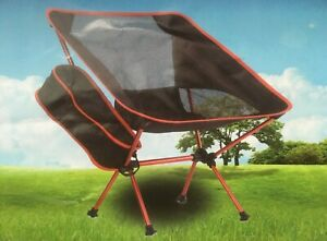 Two Ultralight Packable Portable Camping Chairs with Storage Bags