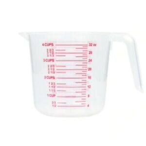 Measuring Cup 4 Cup Plastic Dry Liquid FREE DELIVERY IN BOX