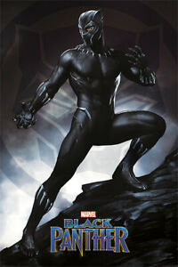BLACK PANTHER MARVEL MOVIE POSTER PRINT STANCE SIZE: 24quot; x 36quot;