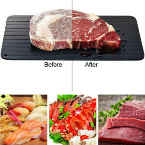 Quick Rapid Thaw Fast Defrosting Tray Plate Board Safest Way Defrost Meat Fish