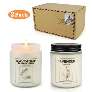 Double Gift Home Scented Candles Aromatherapy Candles Made with Soy Wax and Oil