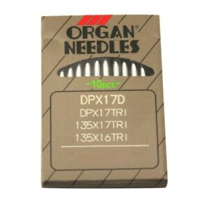 10 Organ 135X16TRI Triangle Point Walking Foot Leather Sewing Needles $4.65
