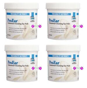 400 p Top Performance ProEar EAR CLEANSING PADS DOG CAT Wipes Wax Odor Cleaning $37.99