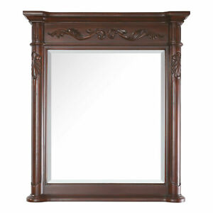 Avanity PROVENCE M36 Antique Cherry Provence 40quot; X 36quot; Framed Bathroom Mirror