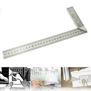 Stainless Steel L Square Angle Ruler 90 Degree Woodworking Measuring Tool Tester $6.17