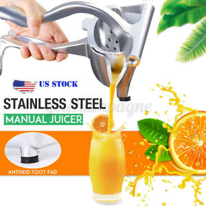 Hand Press Fruit Juicer Extractor Manual Juice Squeezer With Anti skid Foot Pad