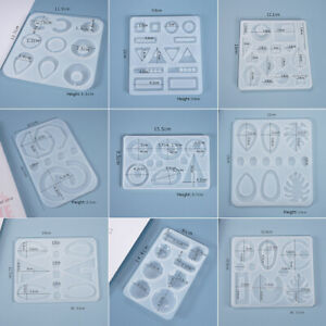 Resin Crystal Epoxy Mold Earrings Pendant Jewelry DIY Casting Silicone Mould $3.19