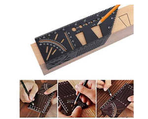 Aluminum Alloy 3D Mitre Angle Measuring Square 45 90 Degree Angle Ruler $21.20