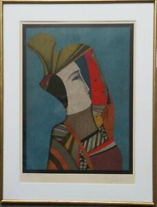 "Mihail Chemiakin ""Double portrait of Rebecca with mask"" Lithograph $1500.00"