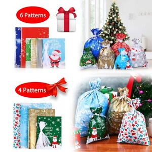 30 Foil Gift Bags Ribbon Party Bag Wedding Favours Christmas Candy Wrapping Bags