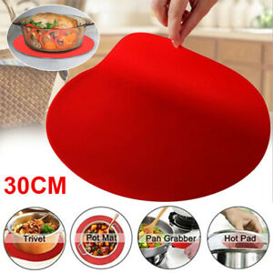 12#x27;#x27; Silicone Round Baking Mat Oven Microwave Pizza Pastry Sheet Pad Tool Home