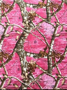 Realtree Edge Pink Camouflage💯Cotton Fabric Sold By The Yard✅Face Mask Hunting