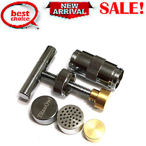 Press Tool 3.5 Inches Engineered Brass Cylinder Heavy Metal T Handle Silver
