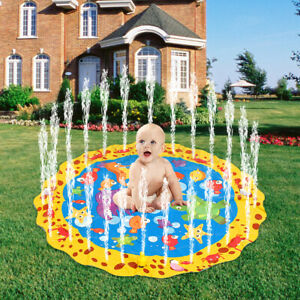 Kids Splash Play Mat Children Inflatable Outside Water Spray Toy Sprinkle