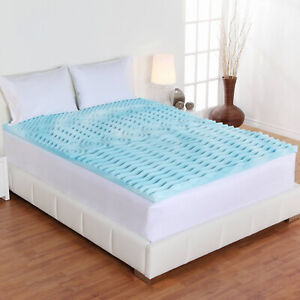 Cool Authentic Foam Mattress Topper 5 Zone Orthopedic Pad 3quot; Inch Queen Size New