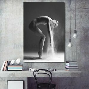 Nordic Art Dancing Girl Canvas Print Painting Poster Home Wall Decor Unframed S
