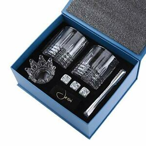 Jexivi Whiskey Glass Stones Set Gift Elegant Lovers Gifts Large Lead Drinking