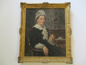 ANTIQUE PAINTING ESTATE PORTRAIT FEMALE WOMAN SHIP OWNERS WIFE 19TH CENTURY OLD $1876.00