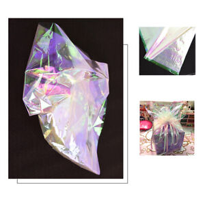 20x Iridescent Cellophane Wrapping Gift Paper Wrap Film Bouquet Packaging Paper $9.35