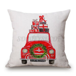 Cotton Linen Sofa Car Home Waist Cushion Covers Throw Pillow Case For Xma $7.13