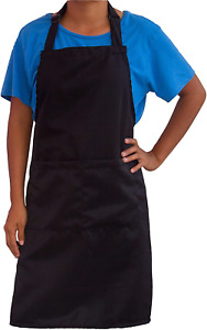Adjustable bib Apron Unisex for Kitchen with 2 Pockets Waterproof