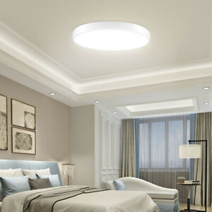 10X LED Ceiling Light Thin Flush Mount Kitchen Panel Room Lamp Home Fixture