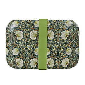William Morris Pimpernel Floral Bamboo Lunch Box Eco Friendly Food Bento Meal