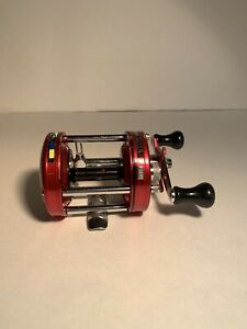 ABU GARCIA AMBASSADEUR FISHING REEL RARE RED 6500 A CLEAN amp; WORKS GREAT