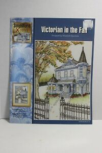Victorian in the Fall Counted Cross Stitch Pattern $3.00