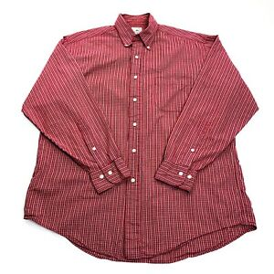 Brooks Brothers Sport Shirt Men's Button Front Red Check Medium $16.99