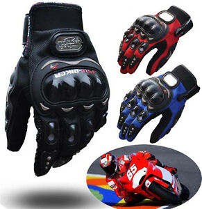 PRO BIKER Motorcycle Motorbike Racing Riding ATV Shock proof Full Finger Gloves $9.99