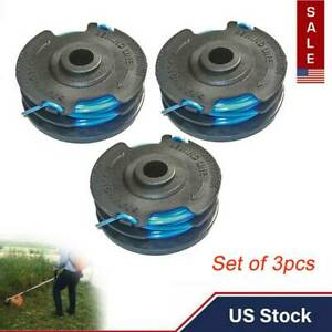 3pcs Spool Line For Craftsman 0.065 Dual Line Auto Feed Replacement #71 99006