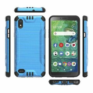 Solid Color Combat Case for Alcatel TCL A2 Signa A507DL Hybrid Phone Cover $9.99