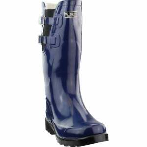 Puddletons Cozy Classic Rain Womens Boots Knee High Blue $19.99