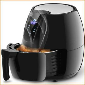 Quart Air Fryer Black Instant Digital 1500 W 4.8 LCD Touch Screen Timer Electric $92.99