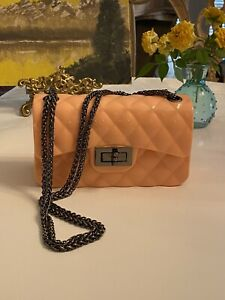 Quilted Jelly Small Pink Purse
