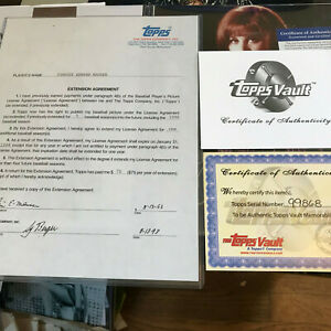 Tim Mauser signed CONTRACT TOPPS Trading Co. Inc VAULT auto autograph Sy Berger $69.88