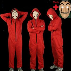 Salvador Dali Money Heist The House of Paper Cosplay Costume Jumpsuit Cosplay $18.79