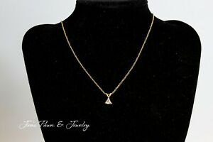 Trillion Diamond Pendant amp; 14k Gold Necklace