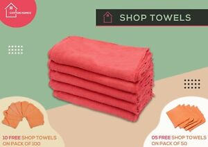 Shop Towel Cleaning Rags 100% Cotton Cloth 12x14 50100 Pack By Cotton Homes