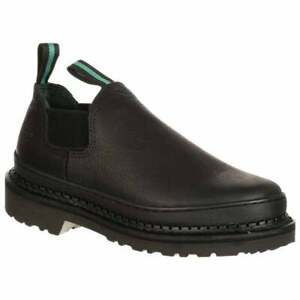Georgia Boots Giant Romeo Slip On Work Shoes Casual Work amp; Safety Black Mens