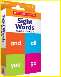 Flash Cards: Sight Words 59 Cards learning pictures Educational Flash for kids