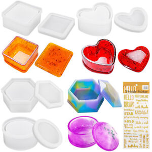 Jewelry Box Resin Casting Molds Silicone DIY Storage Box containers Epoxy Molds $11.99