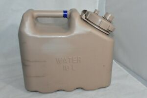 Tan Scepter Military Water Can 10L Plastic Survival Water Jug Jerry Can 2.64 Gal $55.00