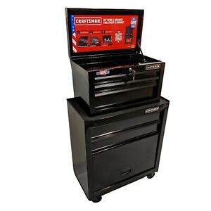 CRAFTSMAN 1000 Series 5 Drawer Ball Bearing Steel Tool Chest Toolbox COMBO NEW