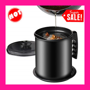 Fine Mesh Strainer with Bacon Grease Container Kitchen Cooking Oil Storage Pan $34.48